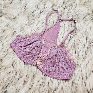 Victoria's Secret Floral Purple Bralette 34C